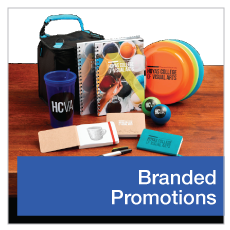 Branded products, promotional products, physical advertising, schwag,